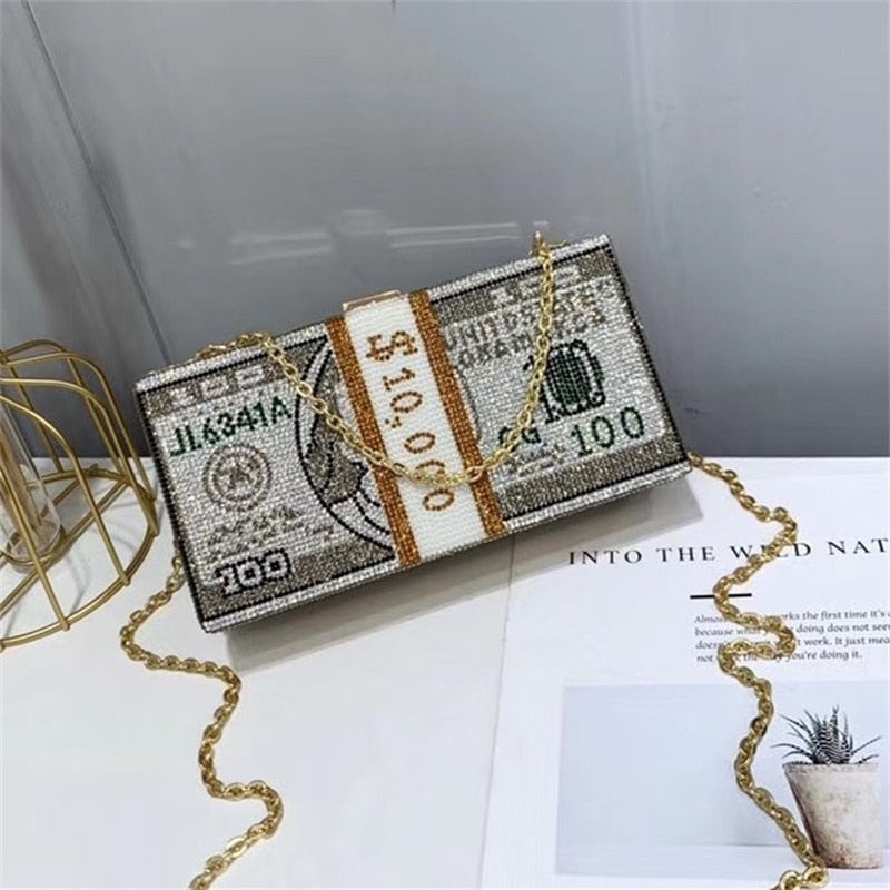 Money On My Mind Clutch Bag