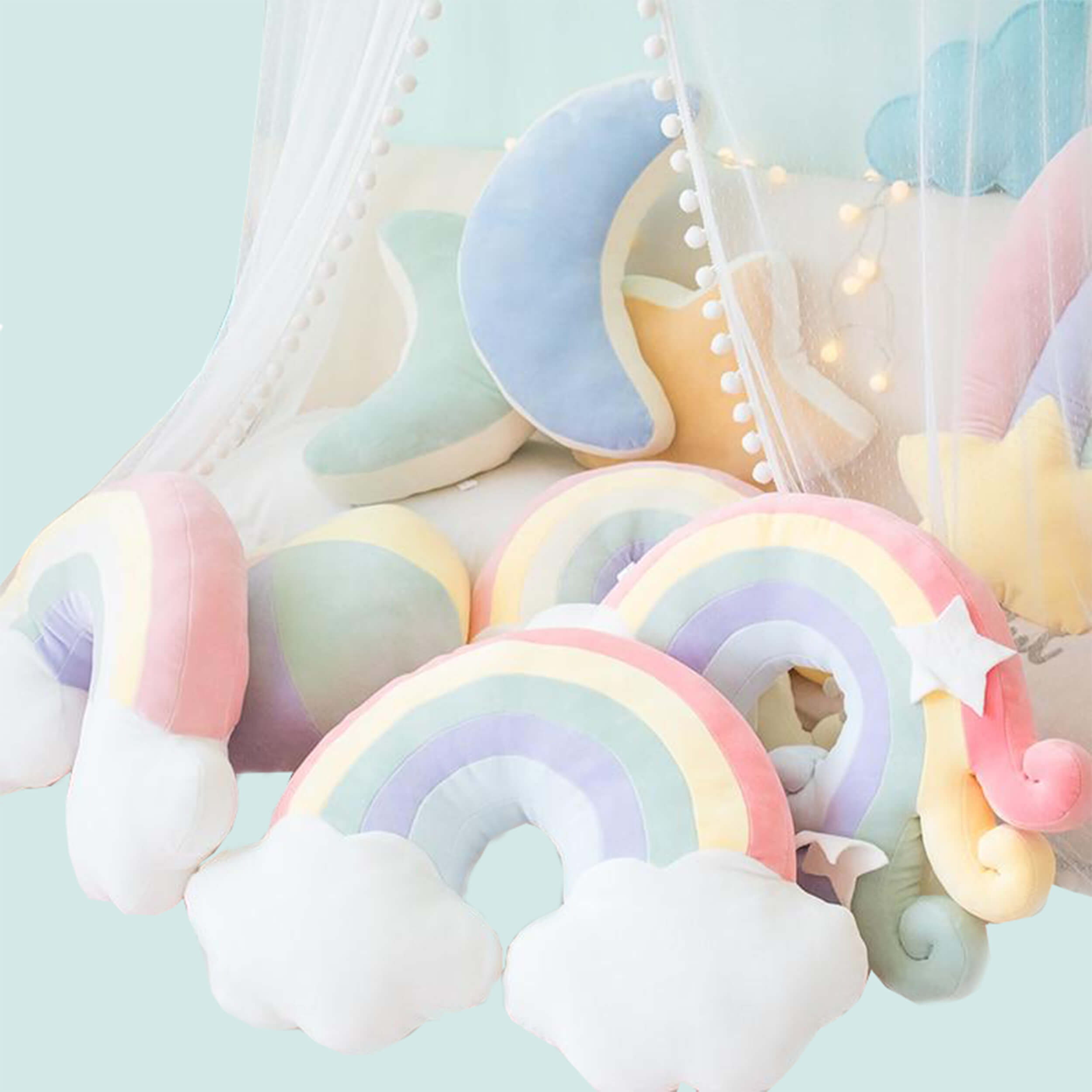 Cuddly Candy Coloured Pillows