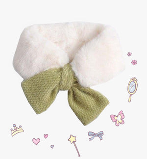Open image in slideshow, Bow Fur Scarf