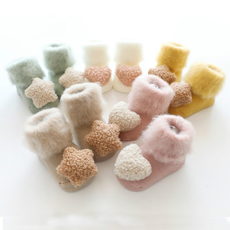 Fluffy Anti-Slip Booties