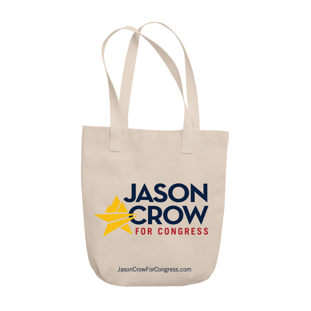 Jason Crow for Congress Logo Tote
