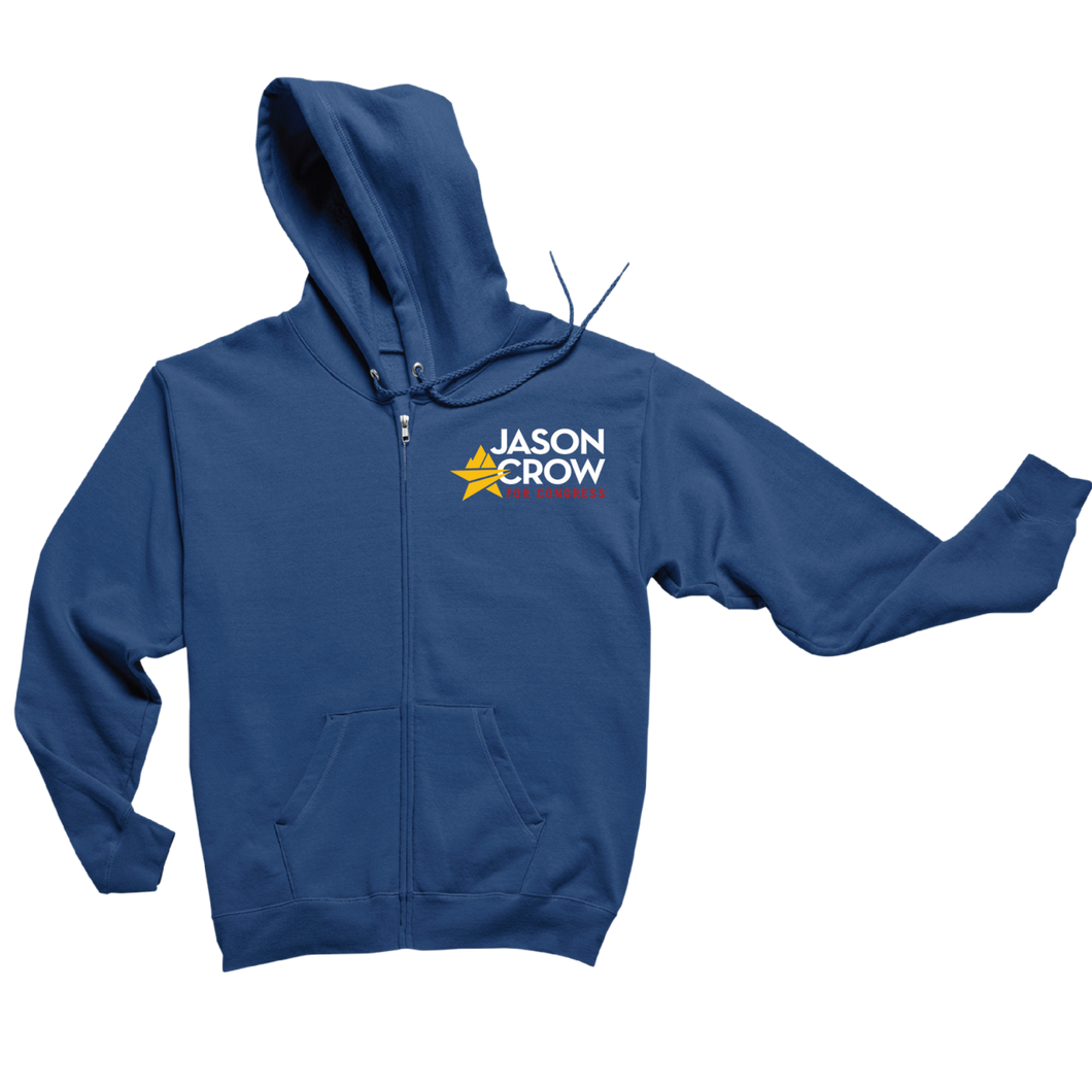 Jason Crow for Congress Logo Zip-up Hoodie