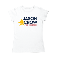 Load image into Gallery viewer, Jason Crow for Congress Logo Fitted T-Shirt