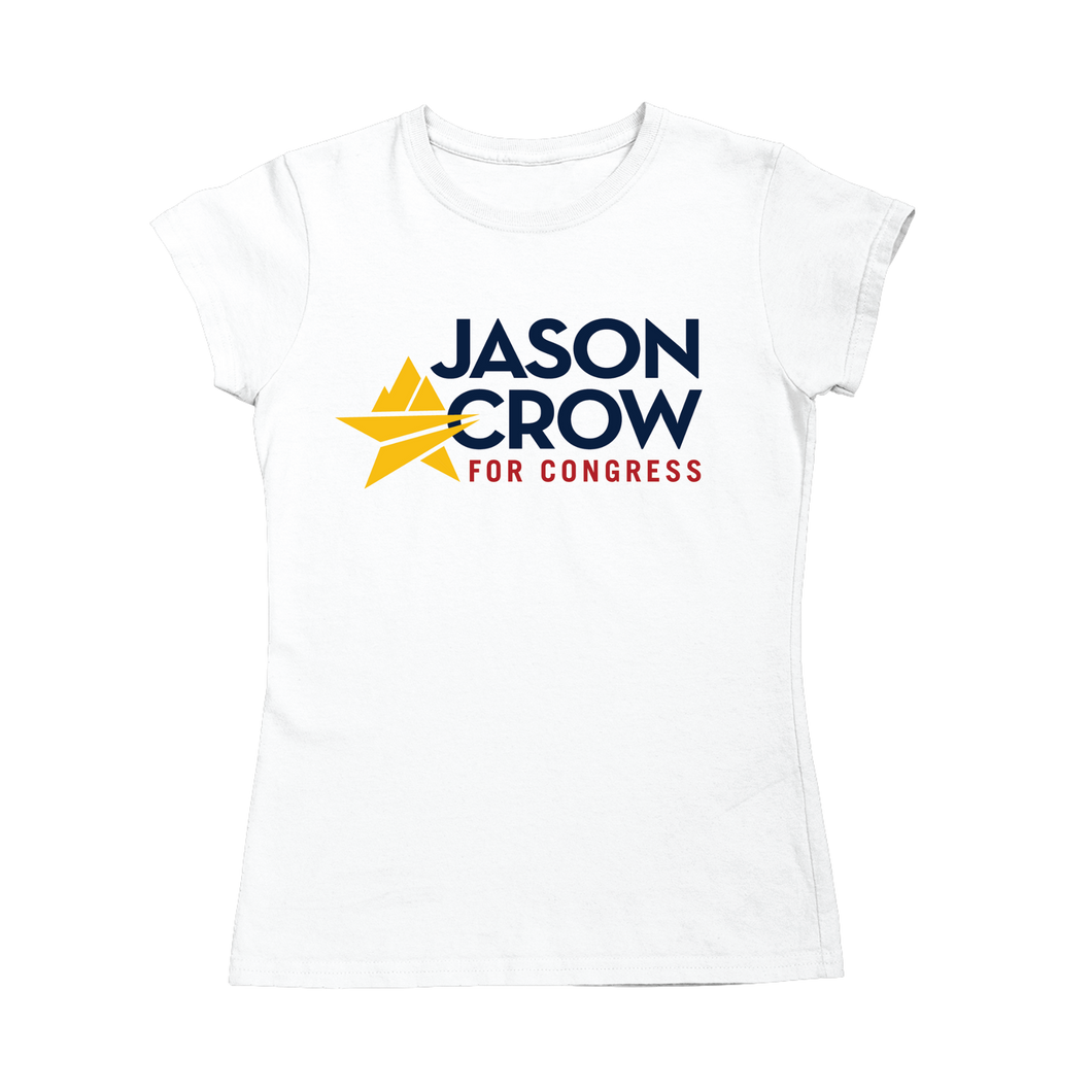 Jason Crow for Congress Logo Fitted T-Shirt