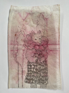 Teabag Drawing- Not My Shoes