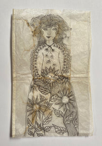 Teabag Drawing- Among Yellow