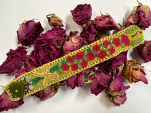 Load image into Gallery viewer, Embroidered wrist cuff- A Dozen Roses