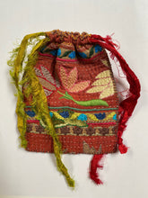 Load image into Gallery viewer, Embroidered Drawstring Pouch- Dusk and Dawn