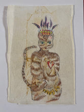 Load image into Gallery viewer, Teabag Drawing- Feline Queen