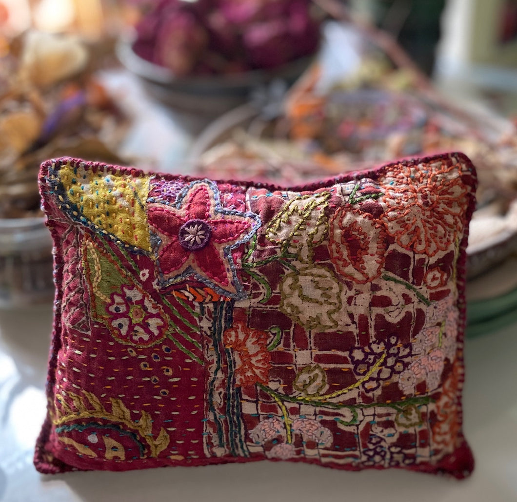 Little Garden- Stitched dream pillow