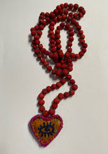 Load image into Gallery viewer, Hawthorn Berries Heart Medicine Necklace- Center