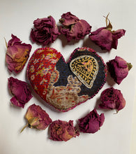 Load image into Gallery viewer, Embroidered Heart -I see you, You see me