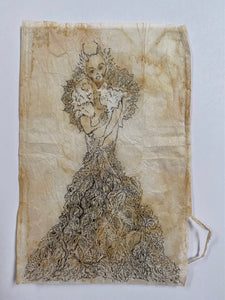 Teabag Drawing- Their Majesty