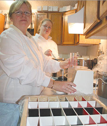 Blissology: The Science of Bliss | Shannon Hames and Pam Smith making small-batch artisan soap.