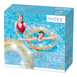 Flotador hinchable purpurina intex 107 cm