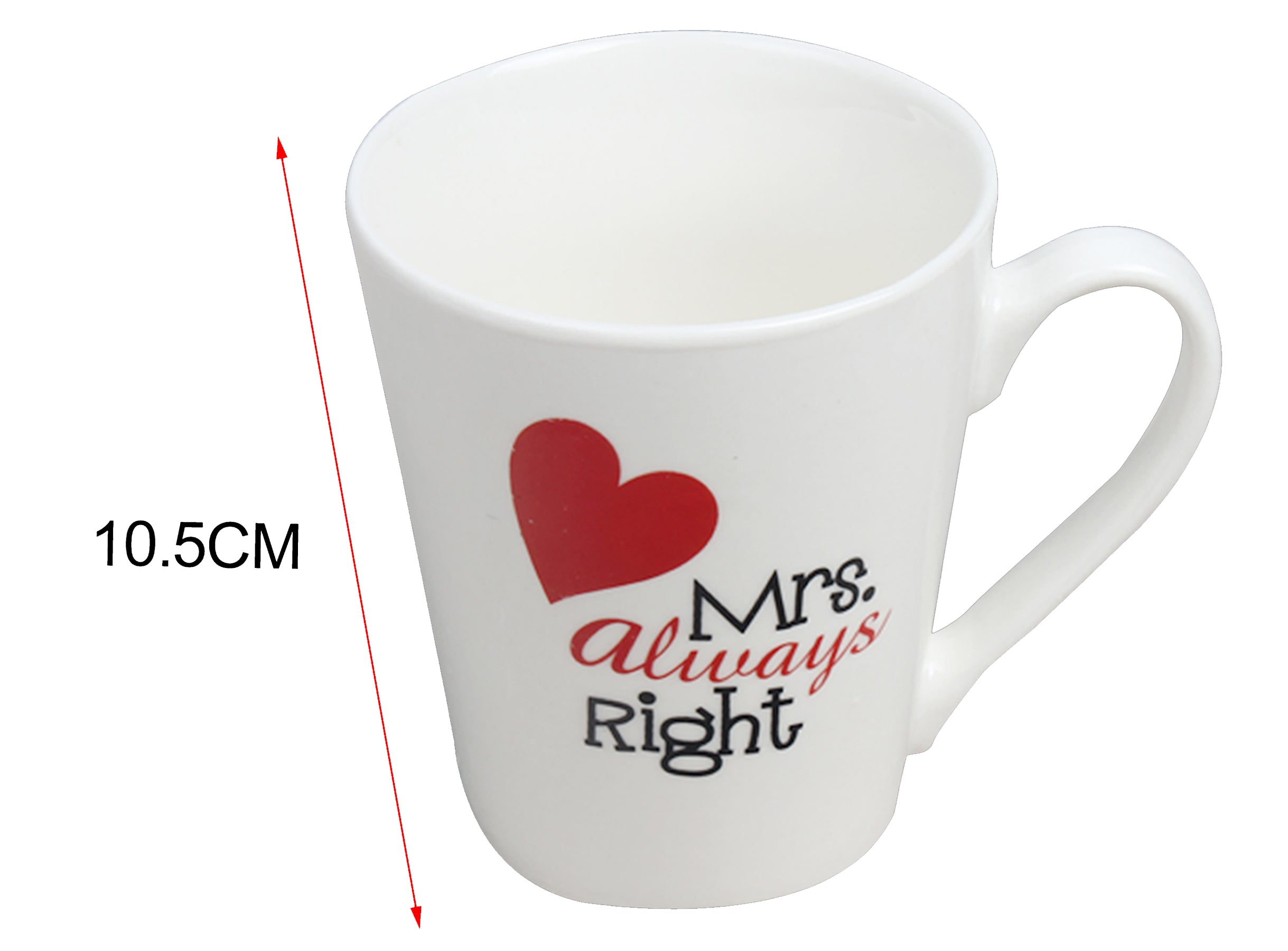Taza San Valentín Mrs. Always Right 10.5 cm. Regalo San Valentín