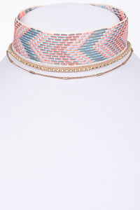 Chocker multicolor rosa