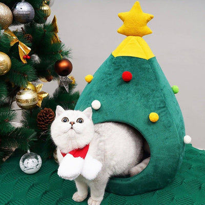 Cat christmas house Sumait