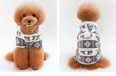 Christmas Sweater for Dog & Cat Sumait-Miro S Gray