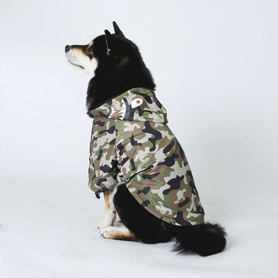 Cute Raincoat for Dog & Cat Sumait M Camouflage