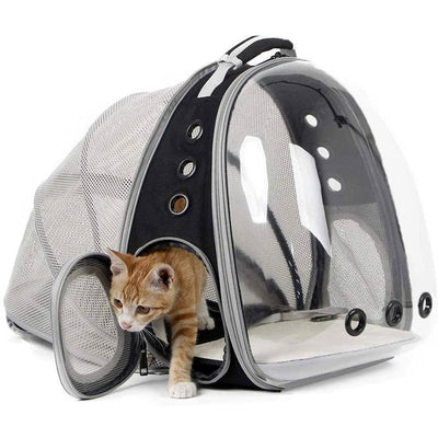 Expandable Cat Carrier Backpack, Space Capsule Bubble Pet Carrier PetioPet