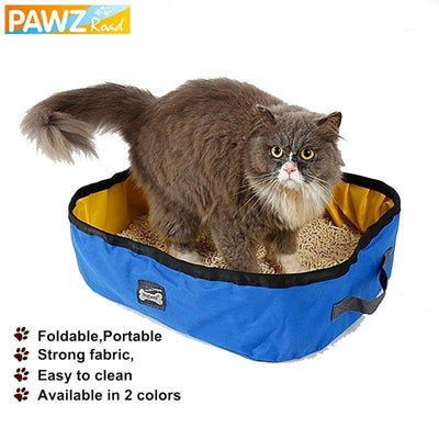 Portable Durable Cats Bedpans Outdoor Indoor Travel Cat Litter Box Sumait