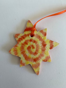 Tie Dye Star Ornament
