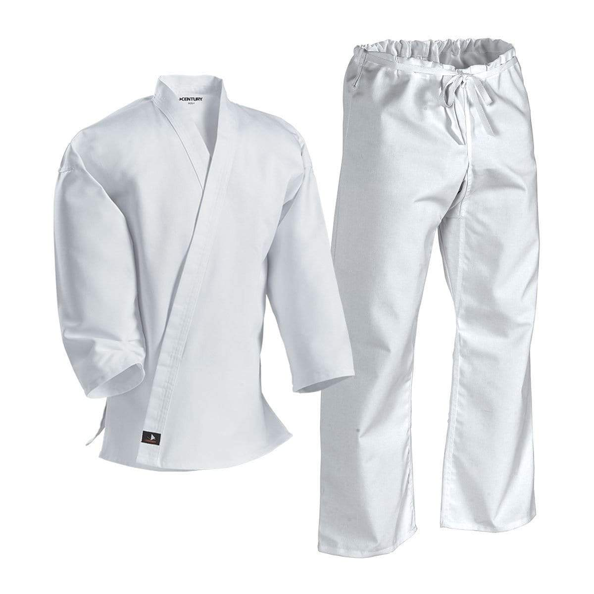 Century Complete Middleweight Drawstring  Waist Poly-Cotton Uniform Karate Martial Arts  white