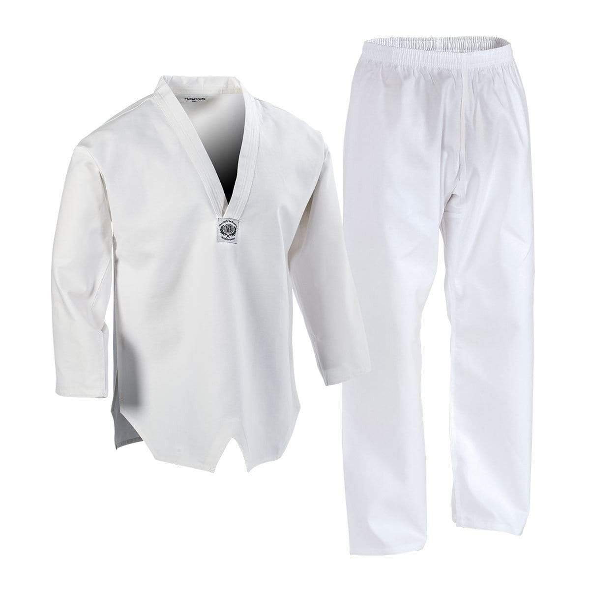 white 7 oz Middleweight TKD Student Uniform c04205