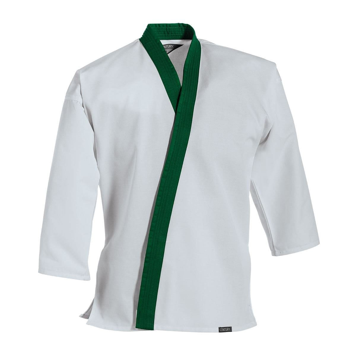 Traditional Tang Soo Do Jacket Green Trim