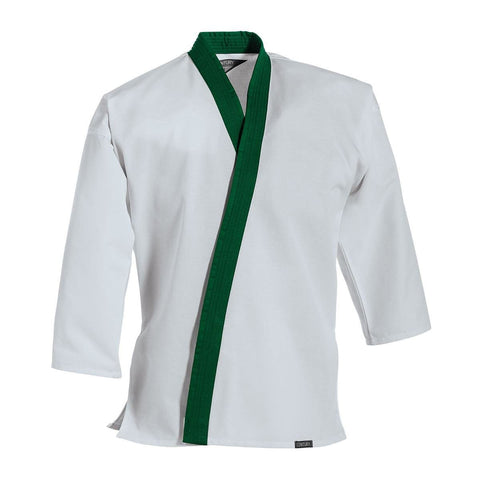 Traditional Tang Soo Do Jacket Green Trim - BlackBeltShop