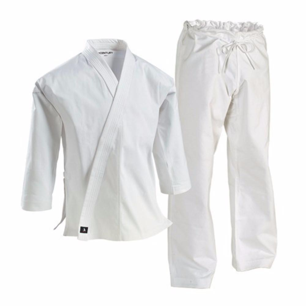 white12 oz Heavyweight Brushed Cotton Uniform Karate Martial Arts