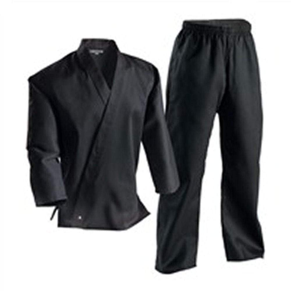 Century 6 oz Martial Arts Karate Uniforms Black