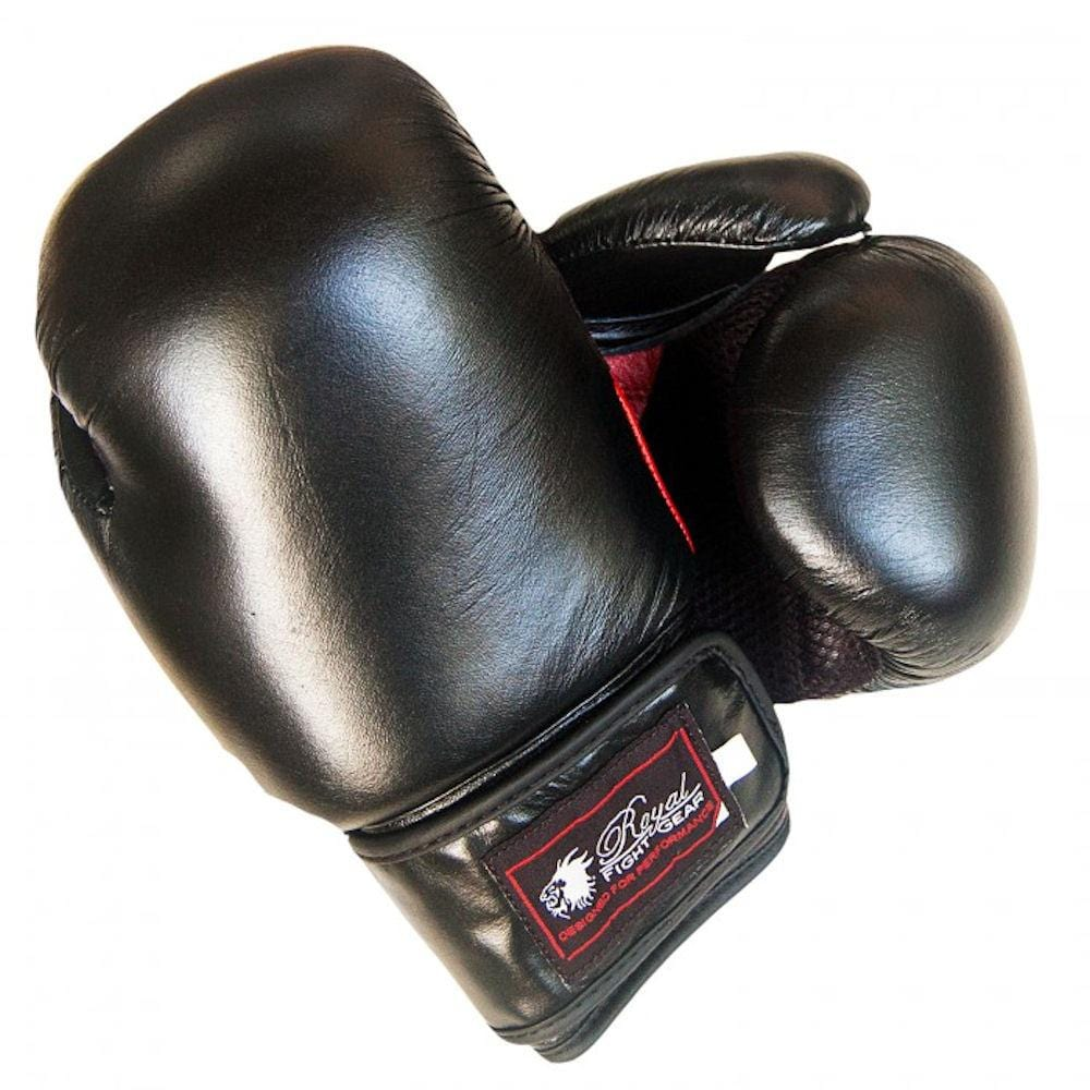 ROYAL FIGHT GEAR RFG V.1 LEATHER BOXING GLOVES - BlackBeltShop
