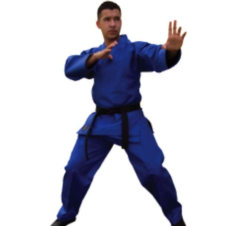 Light Weight Blue Martial Arts Karate Uniform - BlackBeltShop