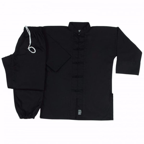Black with Black frogs kung fu uniform set All Sizes 1350