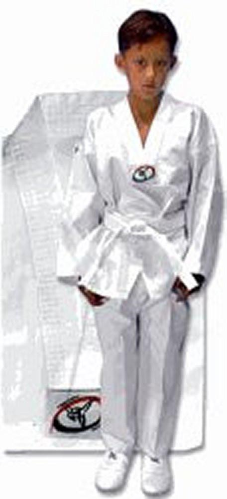 Tae Kwon Do Uniform  Beginners lightweight white v-neck Uniform - BlackBeltShop