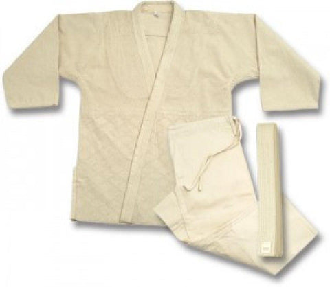 Judo  jiu-jitsu Uniform Single Weave un-Bleached uniform set 575u - BlackBeltShop