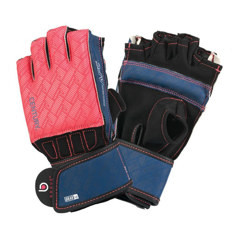 BRAVE WOMEN'S GRIP BAR BAG GLOVES - CORAL/NAVY - BlackBeltShop