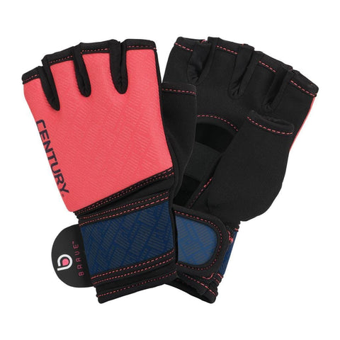 BRAVE WOMEN'S GEL GLOVES - CORAL/NAVY - BlackBeltShop