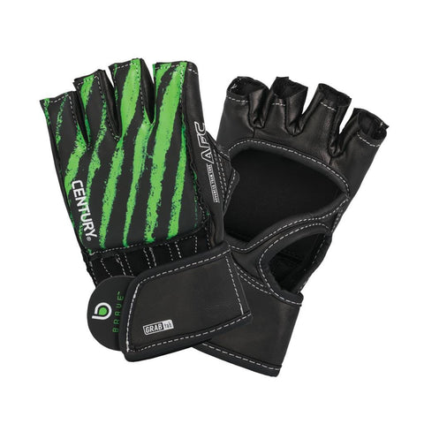 BRAVE YOUTH OPEN PALM GLOVE - BLACK/GREEN - BlackBeltShop