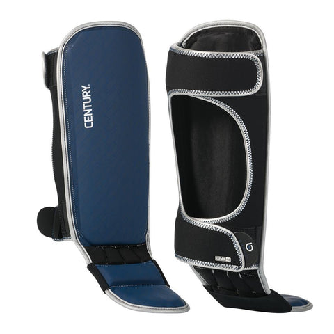 BRAVE SHIN INSTEP GUARDS - SILVER/NAVY - BlackBeltShop