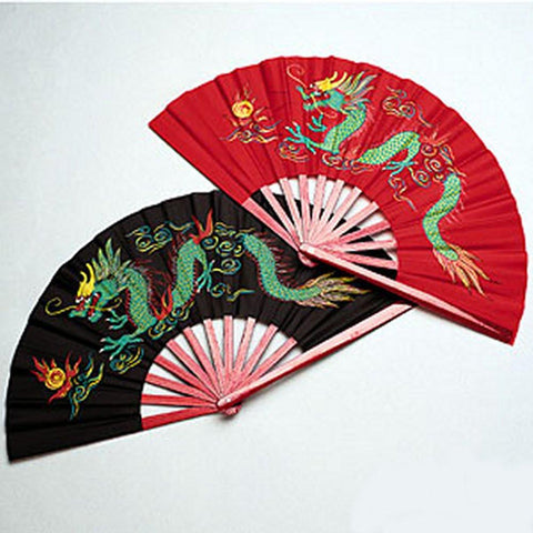 Bamboo Dragon Tai Chi Kung Fu Fighting Fans - BlackBeltShop