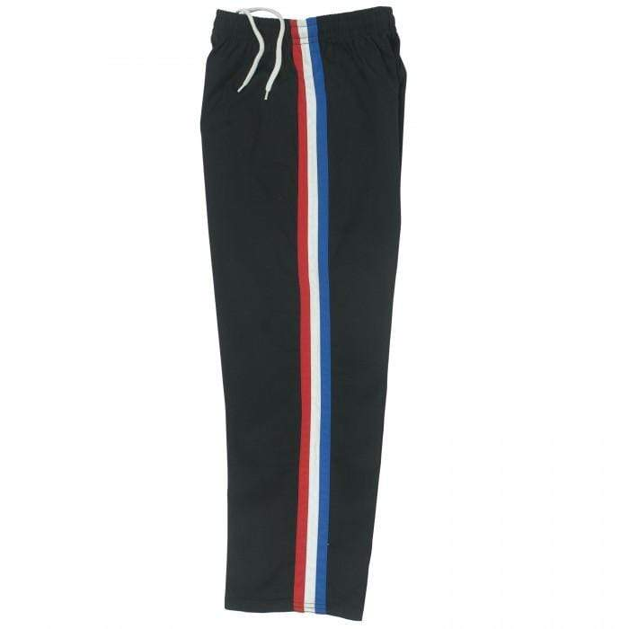 Black Team pants with red white and blue stripe by Bold b218