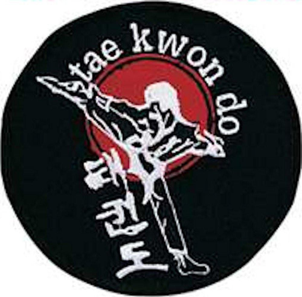 Taekwondo Kicker Round Patch b2404 - BlackBeltShop