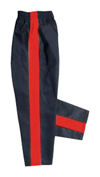 Black with red stripe karate pants by Bold