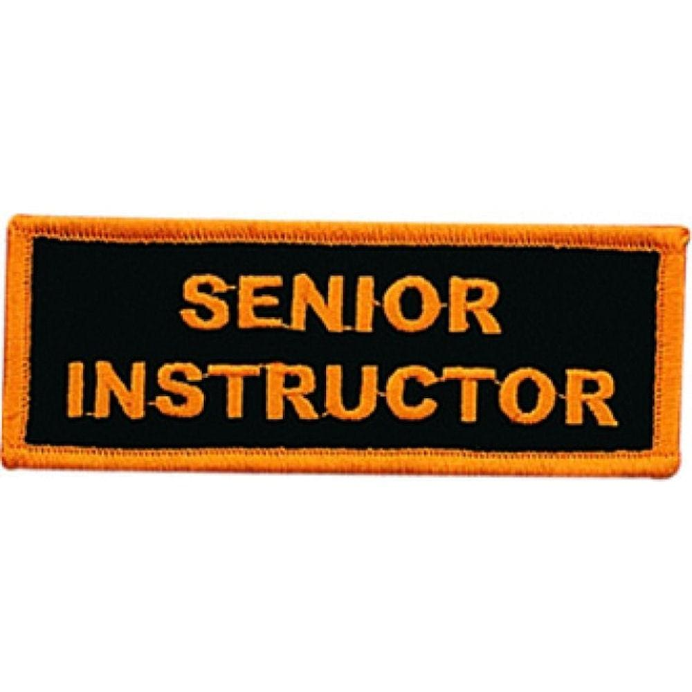 SENIOR INSTRUCTOR PATCH - BlackBeltShop
