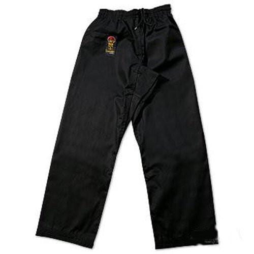 ProForce Gladiator 6 oz Karate Pants Black Elastic Waist - BlackBeltShop