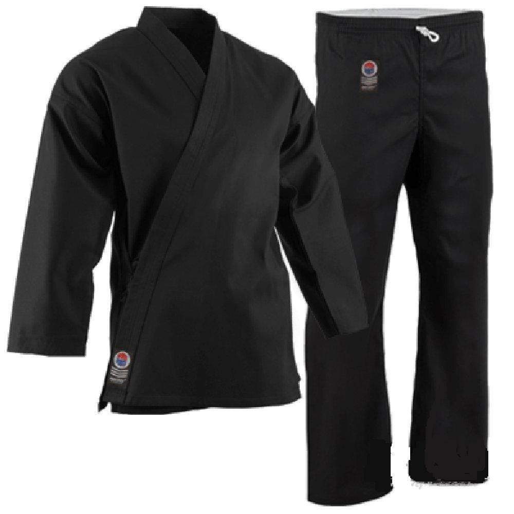 ProForce 8 oz Medium Weight Karate Uniform Black Elastic Drawstring - BlackBeltShop