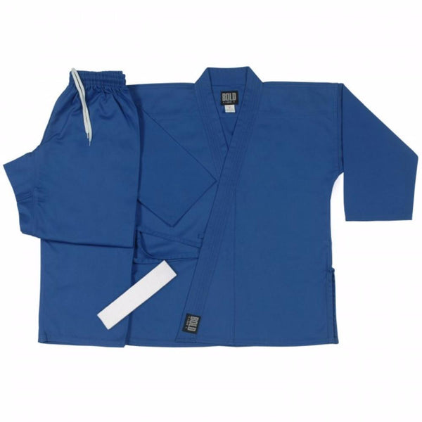 Bold Middleweight Traditional Karate Uniform - Blue 300-BLUE